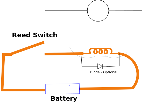 Wiring Diagram For Reed Switch : Two simple electric motors scrap to power
