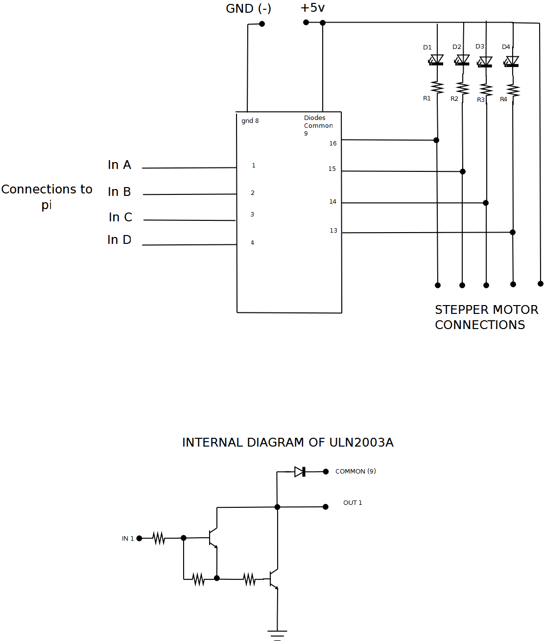 ULN2003A Driver board?height=785&width=666 how to connect stepper motors to a raspberry pi scrap to power Single Phase Motor Wiring Diagrams at n-0.co